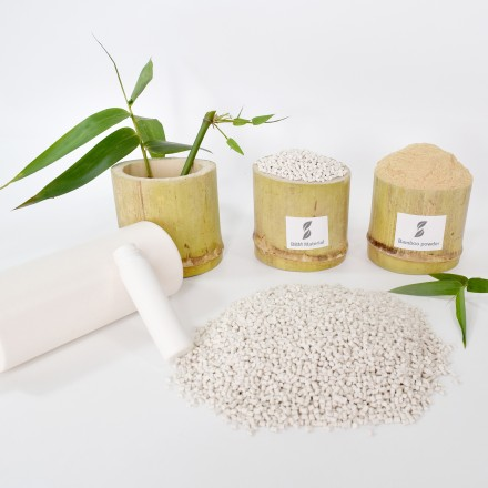 Eco-friendly bamboo material for biodegradable bottle production