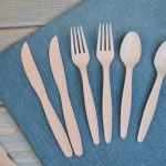 Compostable Food Grade Party Bamboo 100% Biodegradable Tableware KnifeForkSpoon